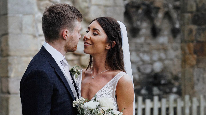 wedding video, couple, kissing, wedding,